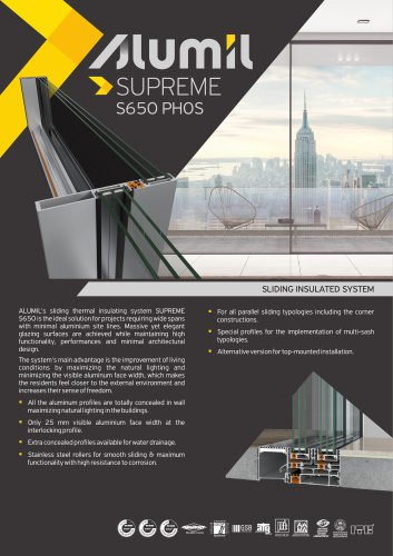 Technical Brochure SUPREME S650