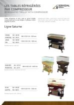 LES TABLES réfrigéréES  pAr comprESSEur Ligne Saturne