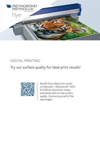 Digital Printing: Try our surface quality for ideal print results!