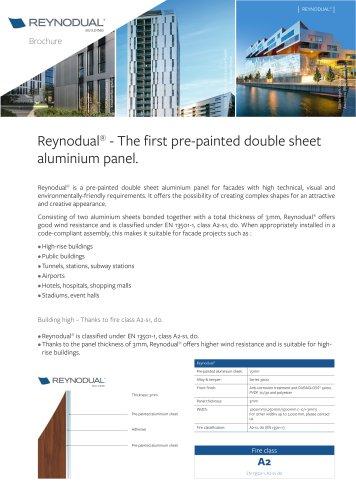 Double sheet aluminium panel Reynodual
