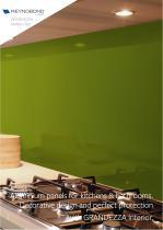 GRANDEZZA Interior - Aluminium composite panels for kitchens and bathrooms