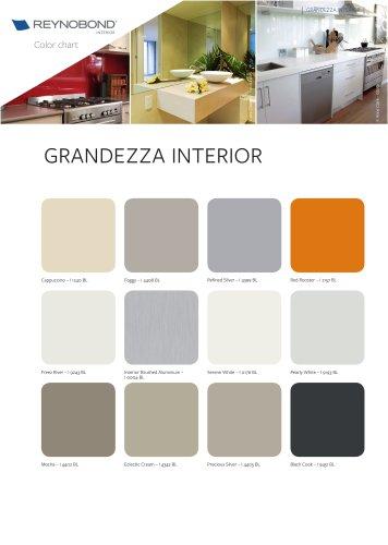 GRANDEZZA Interior Color chart - Aluminium composite panels for kitchens and bathrooms