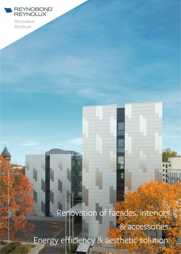 Renovation of facades, interiors and accessories with aluminium panels and sheets
