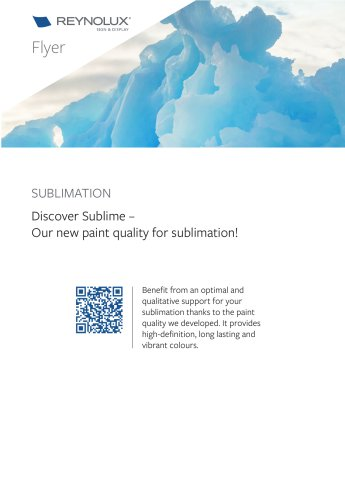 Sublimation: Discover Sublime – Our new paint quality for sublimation!