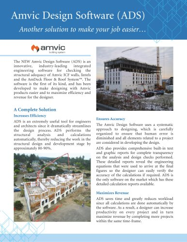 Amvic Design Software (ADS)