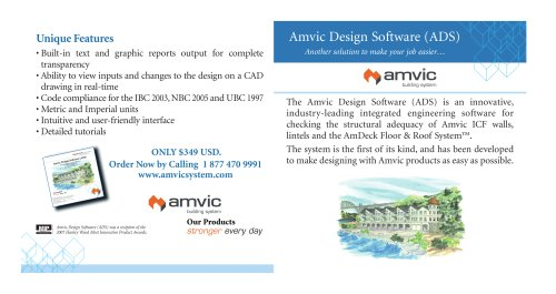 Amvic Design Software (ADS) Another solution to make your job easier…