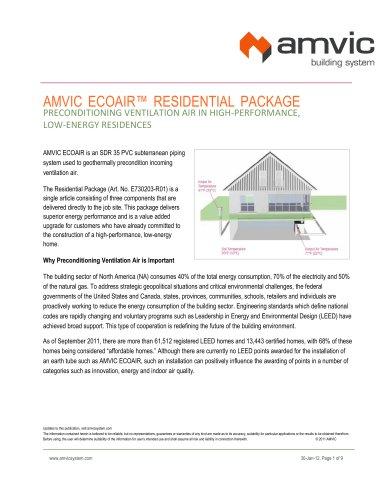 Amvic EcoAIR Residential Package