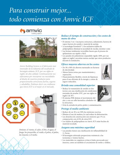 Para construir mejor...  todo comienza con Amvic ICF
