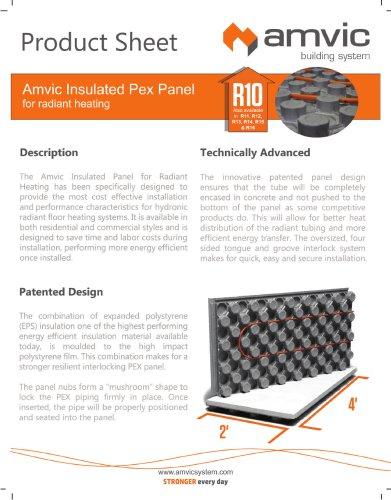 Insulated PEX Panel