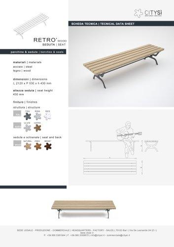 RETRO SEAT WOOD