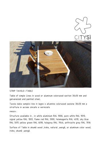 STRIP TAVOLO /TABLE