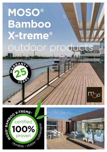 MOSO® Bamboo X-treme® outdoor products