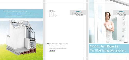 TROCAL PremiDoor 88 main brochure
