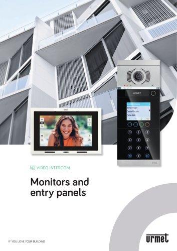 Monitors and entry panels