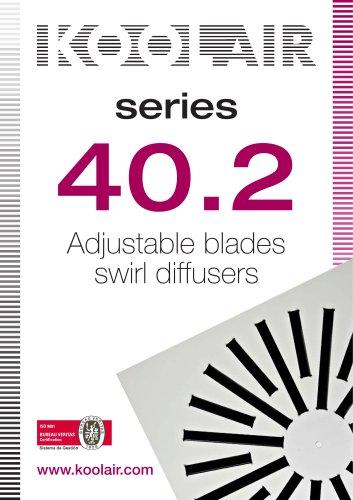 Adjustable blades swirl diffusers – Series 40.2