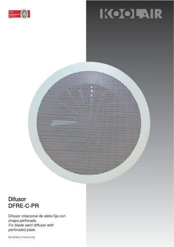 Fixed blades swirl diffusers – DFRE-C PR