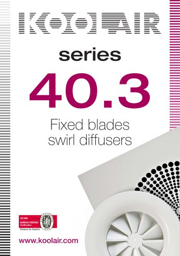 Fixed blades swirl diffusers – Series 40.3