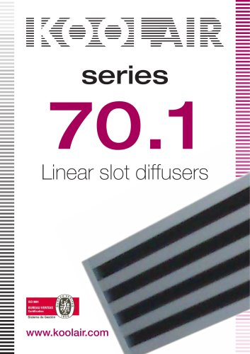 Linear Diffusers – Series 70.1