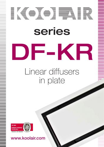Series DF-KR Linear diffusers in plate