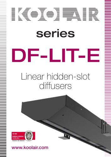 Series DF-LIT-E Linear hidden-slot diffusers