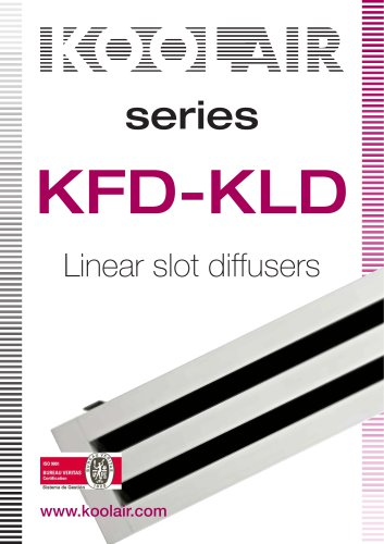 series KFD-KLD Linear slot diffusers