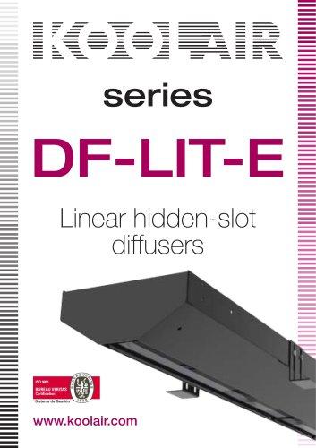 series Linear hidden-slot diffusers www.koolair.com DF-LIT-E