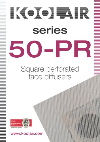 Square perforated face diffusers – Series 50-PR