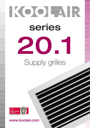 Supply grilles – Series 20.1