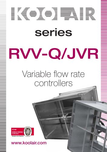 Variable flow rate controllers – RVVQ-JVR