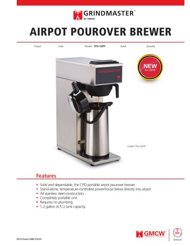 Airpot Pourover Brewers