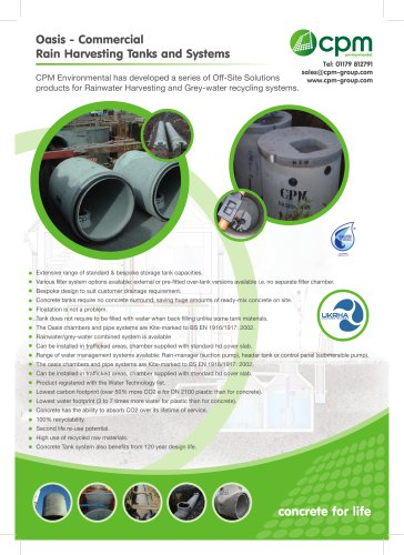 Oasis - Commercial Rain Harvesting Tanks and Systems