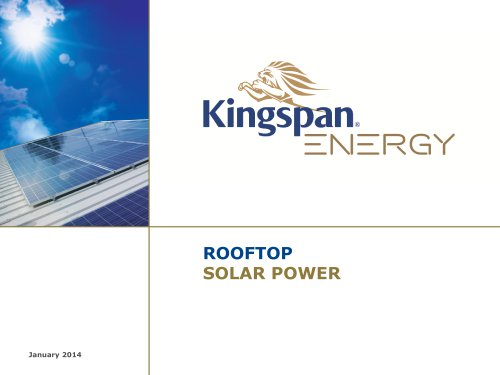 Kingspan Energy Presentation