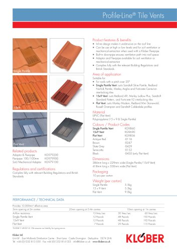 Profile-Line® Tile Vents