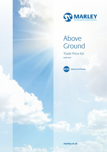 Above ground price list - June 2012