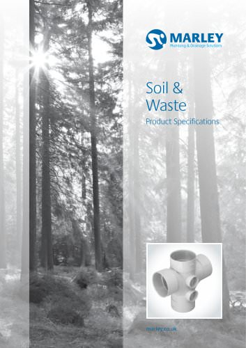 Soil & Waste product specification July 2012