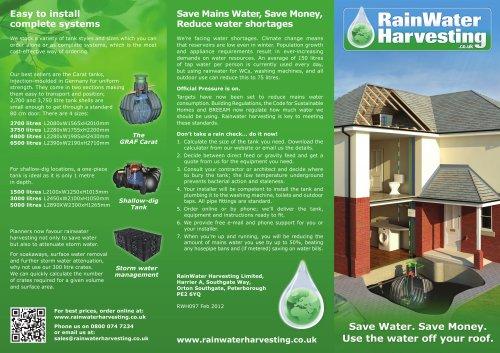 New 2012 leaflet on Rainwater Harvesting