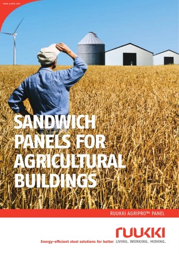 AgriPro sandwich panels for agricultural buildings