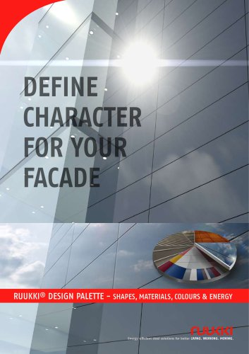 Brochure and colour chart for Facade claddings