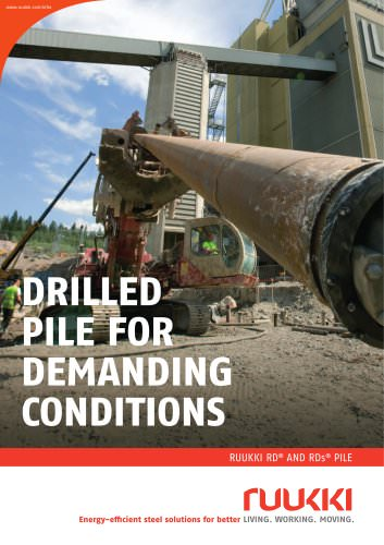 DrillED pilE for  DEmanDing  conDitions
