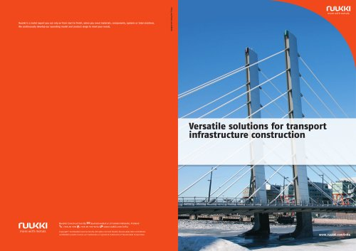 Versatile solutions for transport  infrastructure construction
