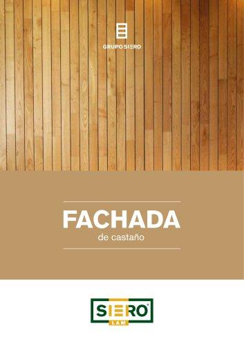 FACHADA en madera de Castaño