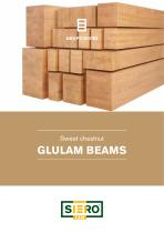 Sweet Chestnut GLULAM BEAMS
