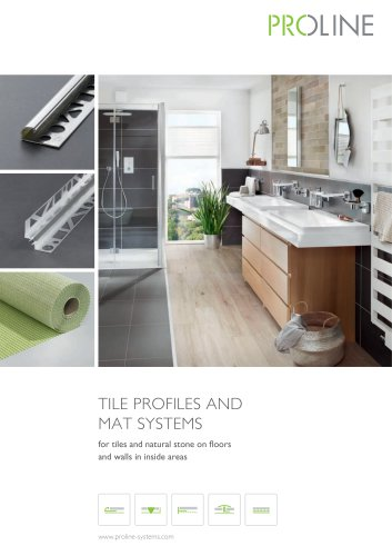 TILE PROFILES AND MAT SYSTEMS