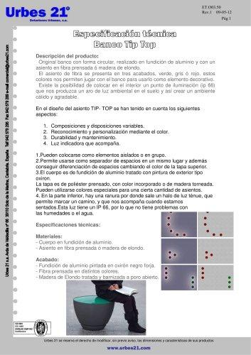 BANCO MODELO TIP-TOP