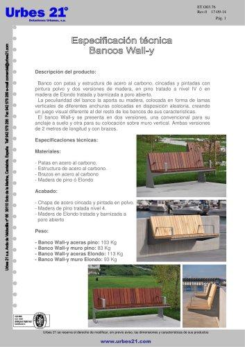 BANCOS MODELO WALL-Y