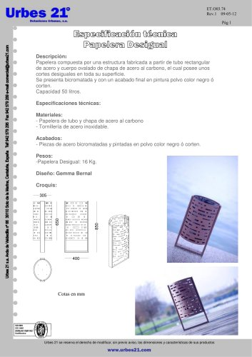 PAPELERA DESIGUAL