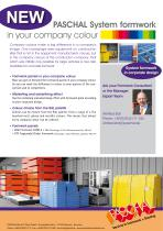 PASCHAL System formwork in your company colour - Product Flyer