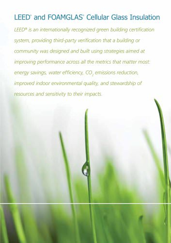 LEED and FOAMGLAS® Cellular Glass Insulation :