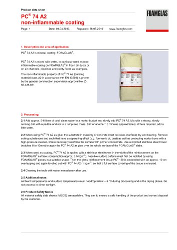 PC® 74 A2 non-inflammable coating