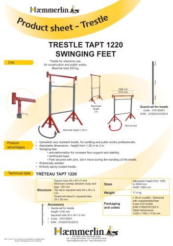 TRESTLE TAPT 1220 SWINGING FEET